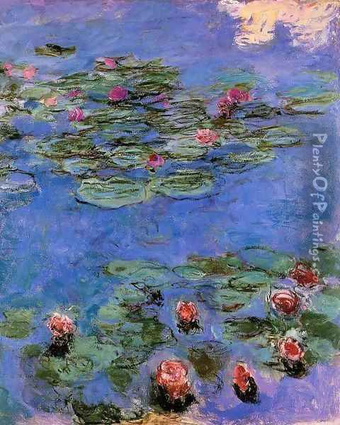 Red Water-Lilies 1914-1917 Oil Painting - Claude Oscar Monet