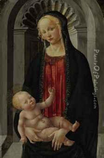 a report on the giotta madonna enthroned painting