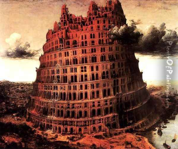 analysis of the tower of babel paintings