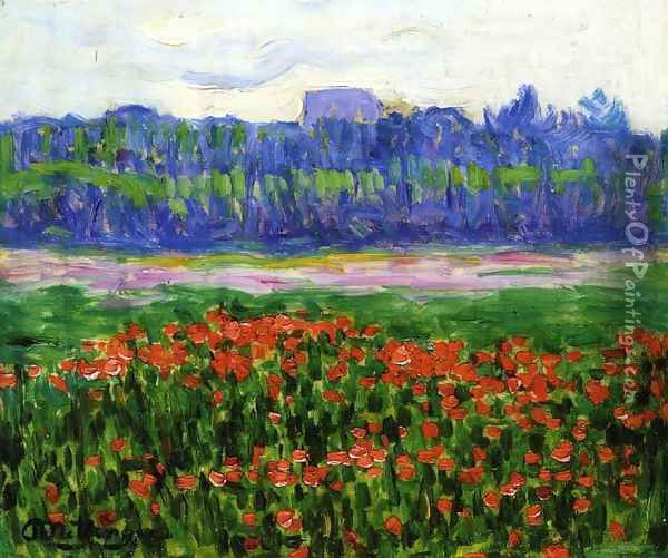 Fields of Poppies Oil Painting - Jean Metzinger
