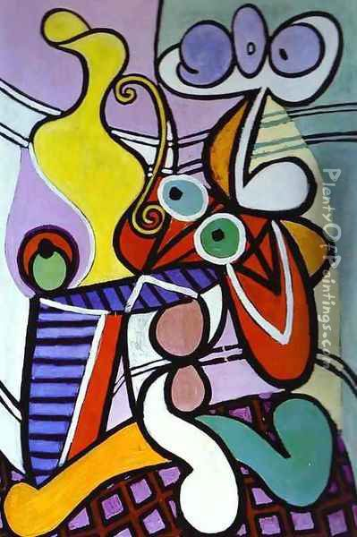 Nude and Still Life Oil Painting - Pablo Picasso