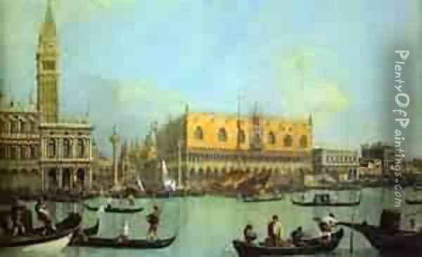 The Bucintoro At The Molo On Ascension Day 1 1732 Oil Painting - (Giovanni Antonio Canal) Canaletto