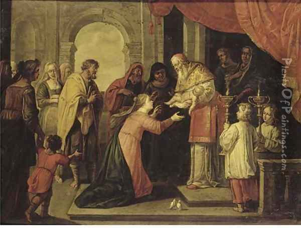 The Presentation of Christ in the Temple Oil Painting - Abraham Willemsens