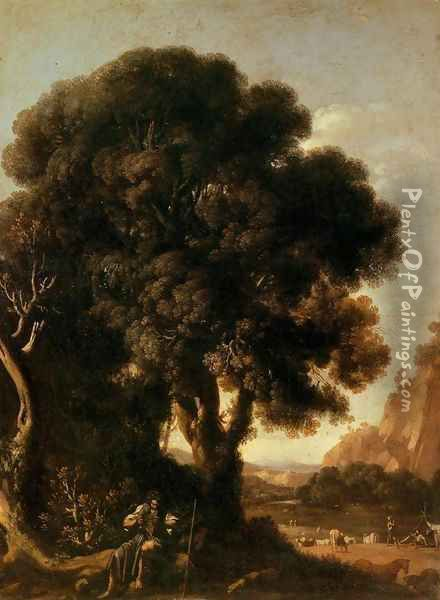 Apollo and the Cattle of Admetus Oil Painting - Adam Elsheimer