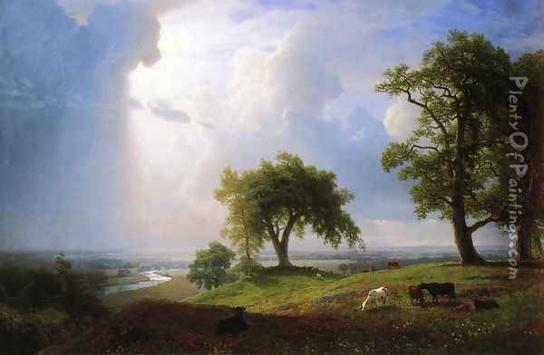 California Spring Oil Painting - Albert Bierstadt