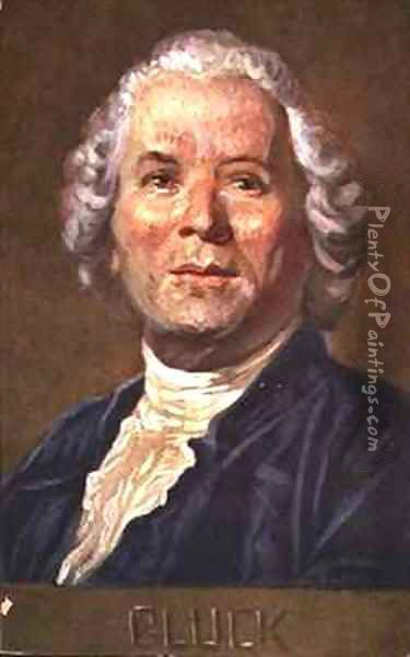 Portrait of Christoph Willibald Von Gluck 1714-1787 German opera composer Oil Painting - Albert Eichhorn