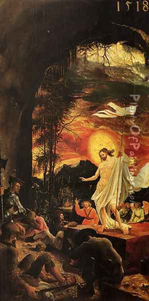 Resurrection Of Christ Oil Painting - Albrecht Altdorfer