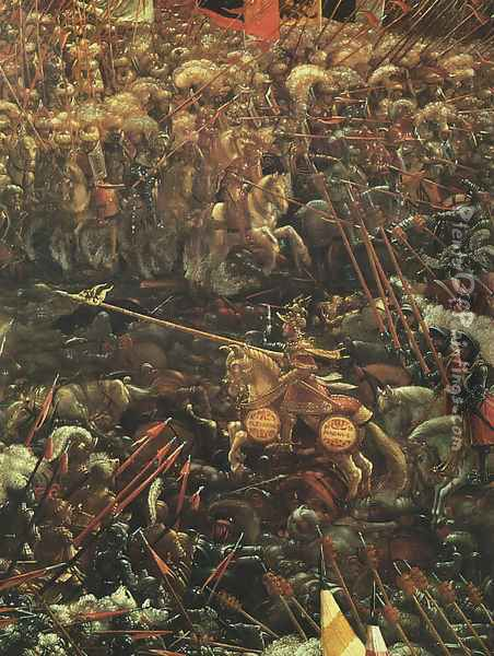 The Battle of Alexander, (detail-1), 1529 Oil Painting - Albrecht Altdorfer