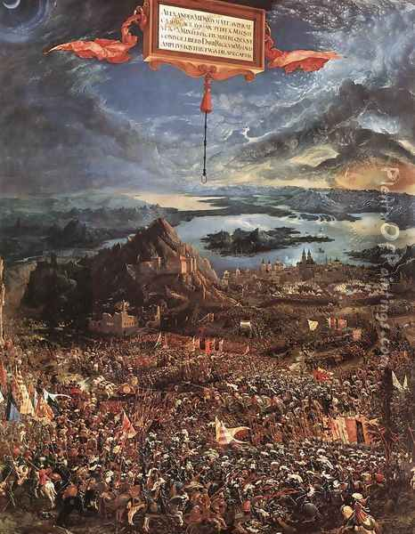 The Battle of Alexander 1529 Oil Painting - Albrecht Altdorfer
