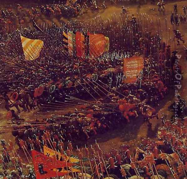 The Battle of Alexander at Issus (detail 3) Oil Painting - Albrecht Altdorfer