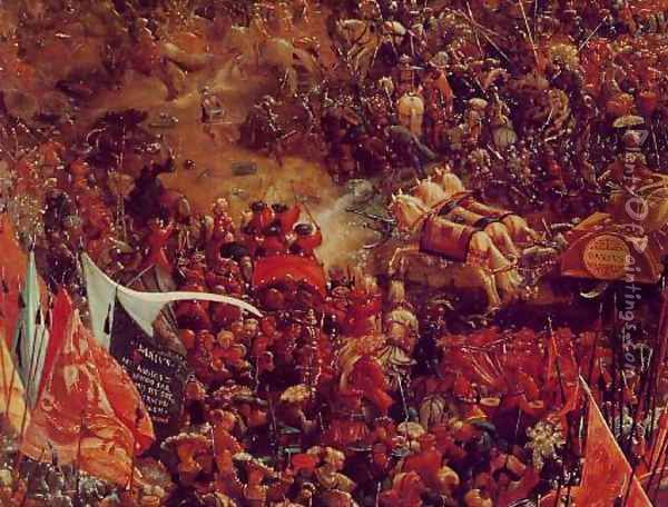 The Battle of Alexander at Issus (detail 4) Oil Painting - Albrecht Altdorfer