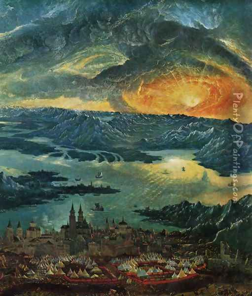 The Battle of Alexander at Issus (detail 5) Oil Painting - Albrecht Altdorfer