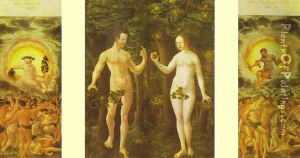 The Fall of Man Oil Painting - Albrecht Altdorfer