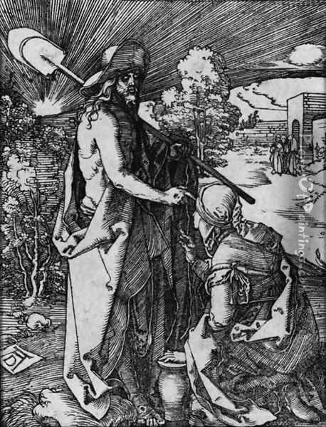 Noli Me Tangere, from The Little Passion Oil Painting - Albrecht Durer