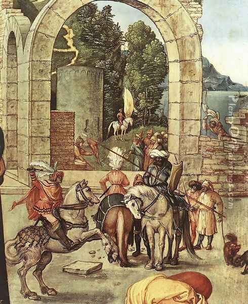 The Adoration of the Magi (detail 3) Oil Painting - Albrecht Durer