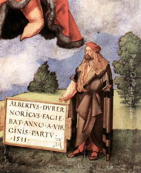 The Adoration of the Trinity (detail 6) Oil Painting - Albrecht Durer