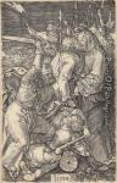 The Betrayal Of Christ, From: The Engraved Passion Oil Painting - Albrecht Durer