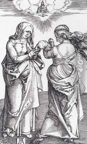 The Virgin With The Infant Christ And St Anne Oil Painting - Albrecht Durer
