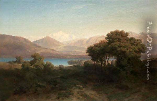 Mont-Blanc Oil Painting - Alexandre Calame