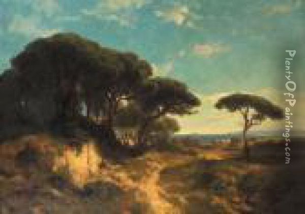 Nature Italienne Oil Painting - Alexandre Calame