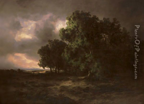Orage, 1843 Oil Painting - Alexandre Calame