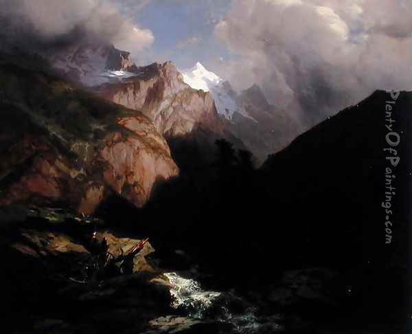 The Jungfrau, Switzerland Oil Painting - Alexandre Calame