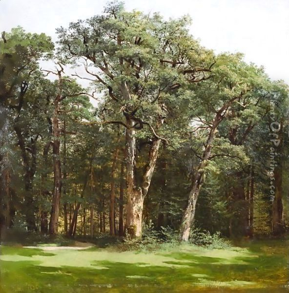 Trees, 1836 Oil Painting - Alexandre Calame