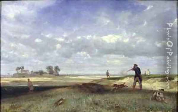 The Hunt Oil Painting - Alexandre Gabriel Decamps