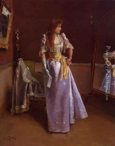 Ready for the Ball Oil Painting - Alfred-Emile-Leopole Stevens