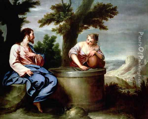 Jesus and the Samaritan Woman Oil Painting - Alonso Cano