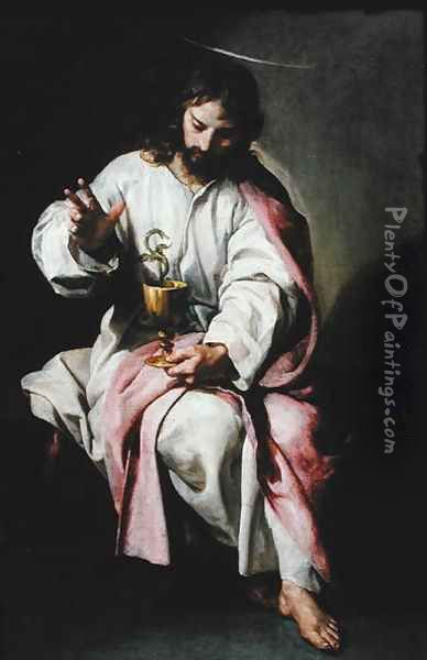 St. John the Evangelist and the Poisoned Cup, 1636-38 Oil Painting - Alonso Cano