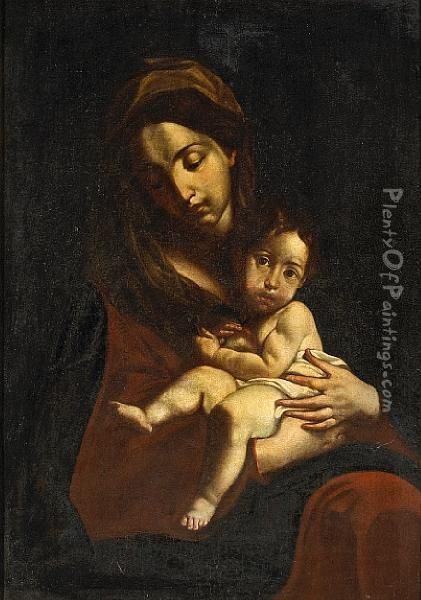 The Madonna And Christ Child Oil Painting - Alonso Cano