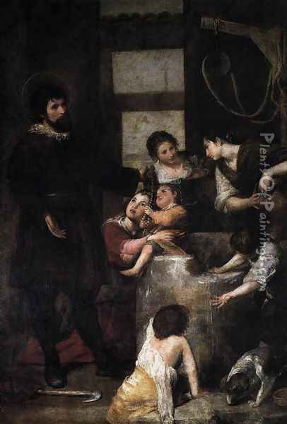 The Miracle at the Well 1646-48 Oil Painting - Alonso Cano