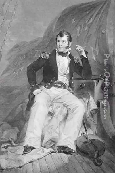 Portrait of Oliver Hazard Perry (1785-1819) Oil Painting - Alonzo Chappel