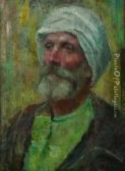 Portrait Of A Morroccan Man Oil Painting - Alphonse Etienne Dinet