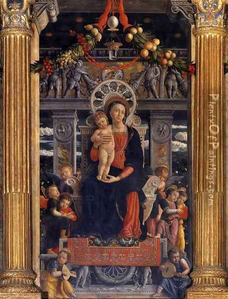 San Zeno Polyptych (central panel) Oil Painting - Andrea Mantegna