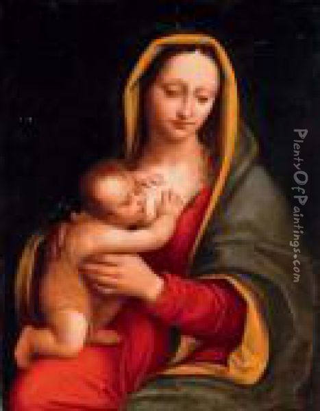 The Madonna And Child Oil Painting - Andrea Solario
