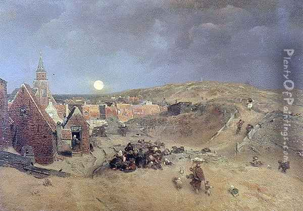 Beside a stream Mill Oil Painting - Andreas Achenbach