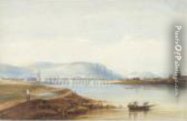 A View Of Belfast Oil Painting - Andrew Nicholl