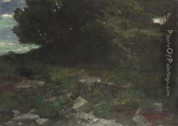 By The Edge Of A Wood Oil Painting - Arnold Bocklin