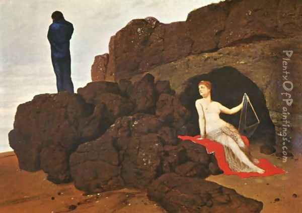 Odysseus and Calypso, 1883 Oil Painting - Arnold Bocklin
