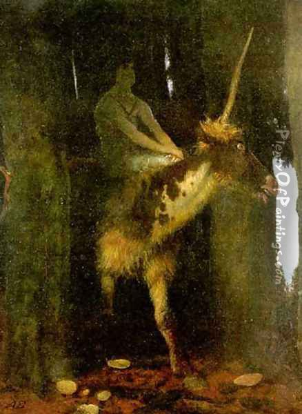 Silence of the Forest Oil Painting - Arnold Bocklin