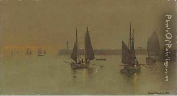 Out with the Ebbing Tide Oil Painting - Arthur E. Grimshaw