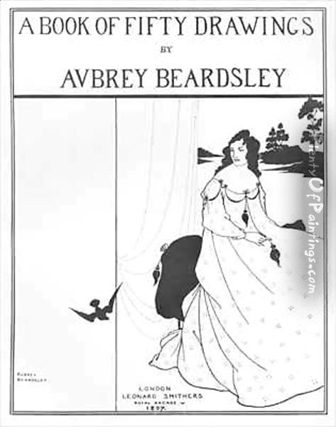 Title Page for 'A Book of Fifty Drawings' Oil Painting - Aubrey Vincent Beardsley