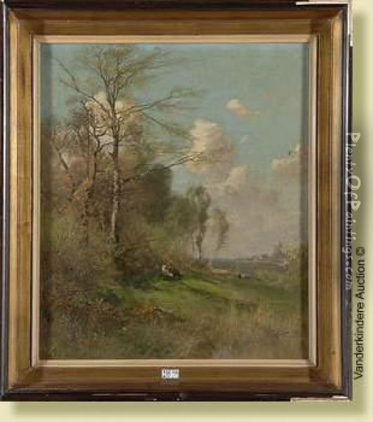 Paysage Anime Oil Painting - August Fink