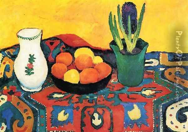 Style Life With Fruits Oil Painting - August Macke