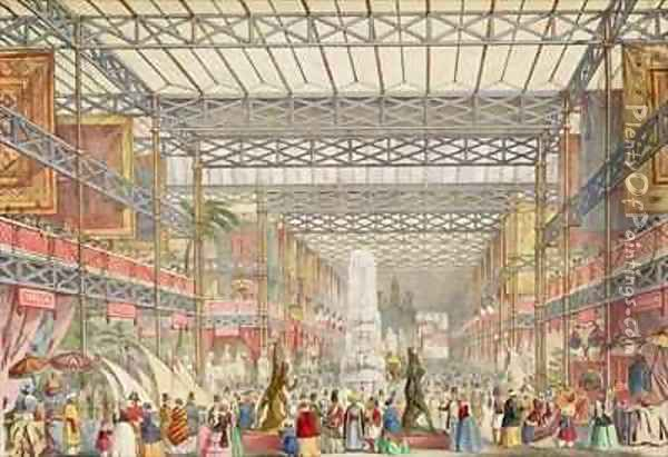 Interior of the Crystal Palace Oil Painting - Augustus Butler