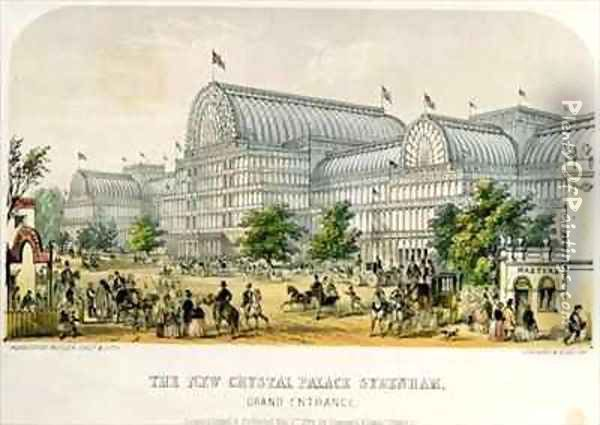 The New Crystal Palace Sydenham, Grand Entrance Oil Painting - Augustus Butler