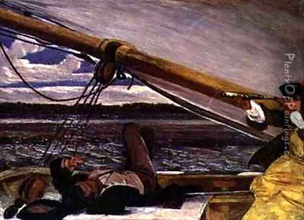 Outward Bound Oil Painting - Augustus Leopold Egg