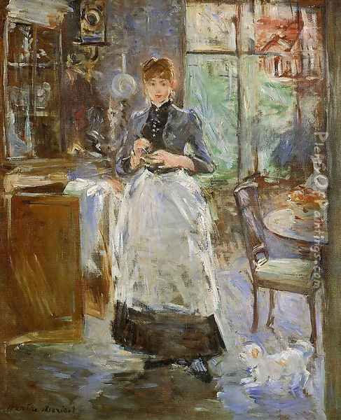 In The Dining Room 1886 Oil Painting - Berthe Morisot